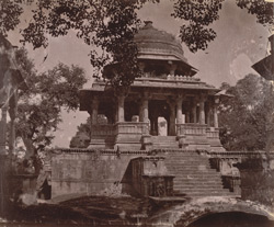Front view of the chhatri or cenotaph of Amar Singh, Ahar, near Udaipur